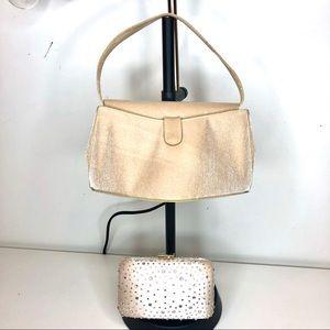 Rodo Italy Metallic Sparkle Flap Mini Purse Clutch